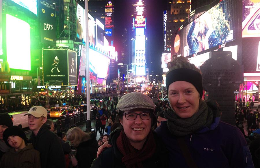 Obligatorisk billede på den famøse Time Square